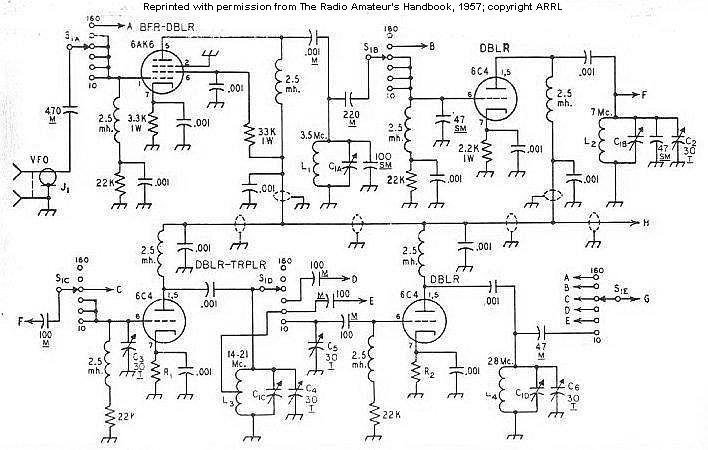Nmw2IDgwNyB0cmFuc21pdHRlcg further Ham Transmitter   CW together with Glowbug also Zenith Trans Oceanic Royal 1000 Schematic also Homebrew. on arrl 807 tube transmitter schematic